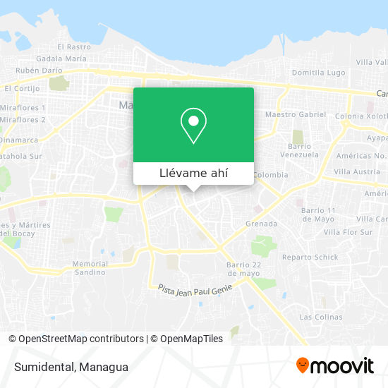 Mapa de Sumidental