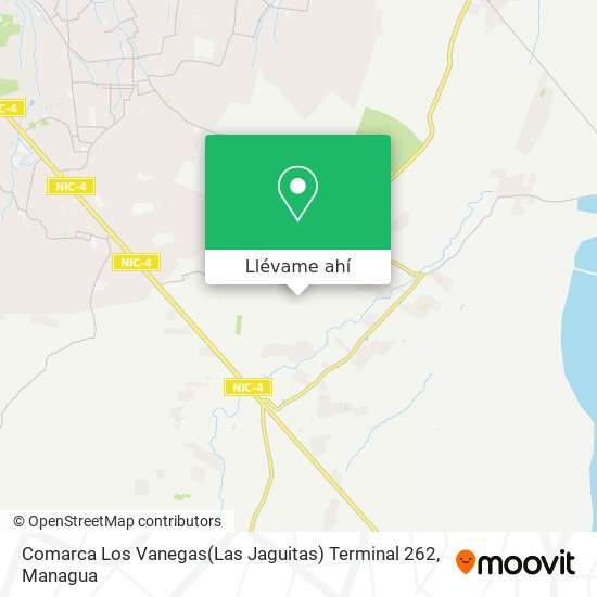 Mapa de Comarca Los Vanegas(Las Jaguitas) Terminal 262