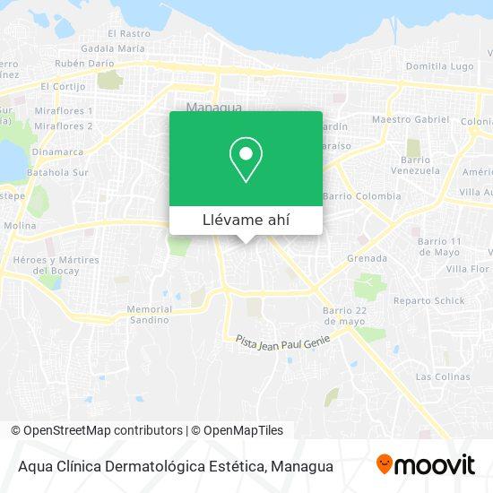 Mapa de Aqua Clínica Dermatológica Estética