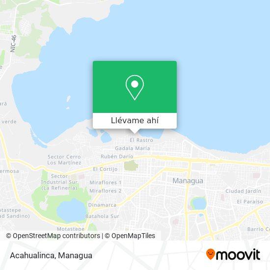 Mapa de Acahualinca