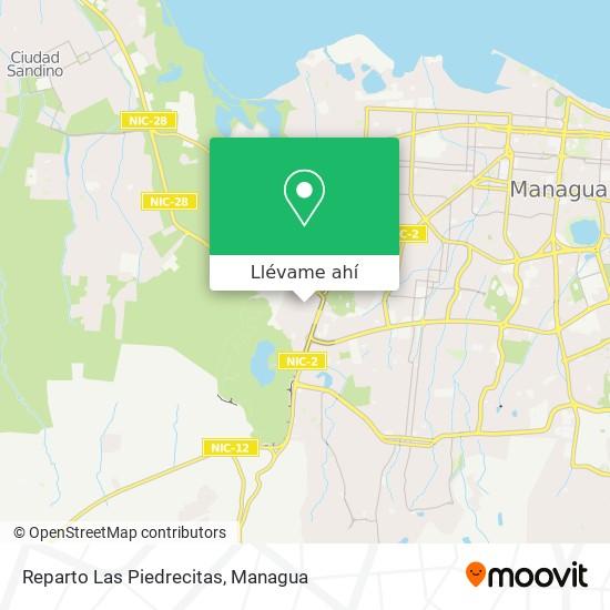Mapa de Reparto Las Piedrecitas