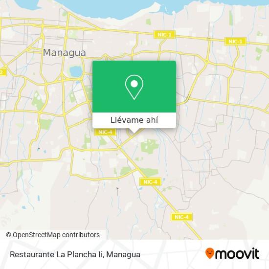 Mapa de Restaurante La Plancha Ii