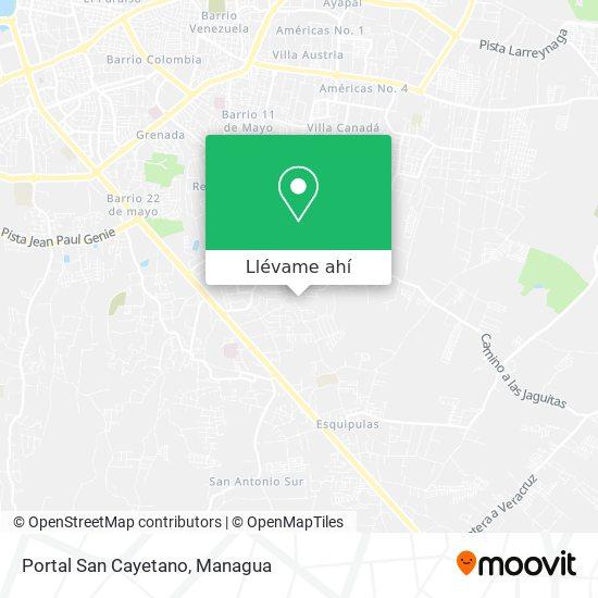 Mapa de Portal San Cayetano