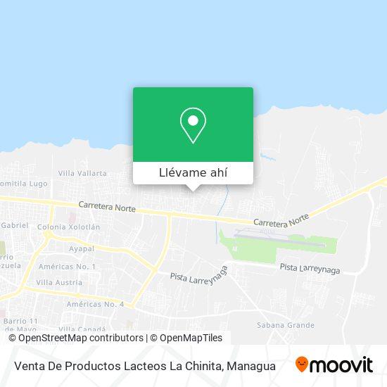 Mapa de Venta De Productos Lacteos La Chinita
