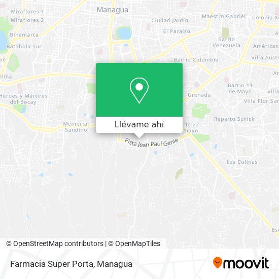 Mapa de Farmacia Super Porta