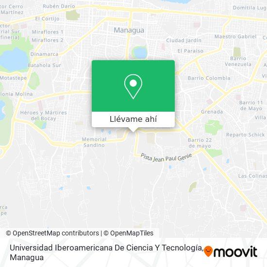 Mapa de Unicit- Universidad Iberoamericana De Ciencia Y Tecnología