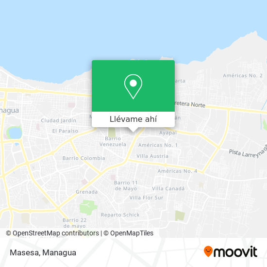 Mapa de Masesa