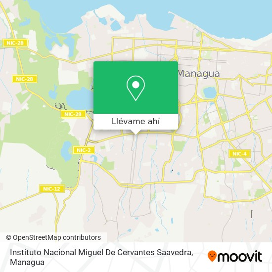 Mapa de Instituto Nacional Miguel De Cervantes Saavedra