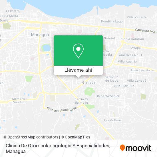 Mapa de Clinica De Otorrinolaringología Y Especialidades