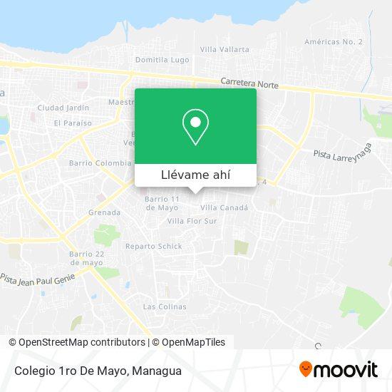 Mapa de Colegio 1ro De Mayo