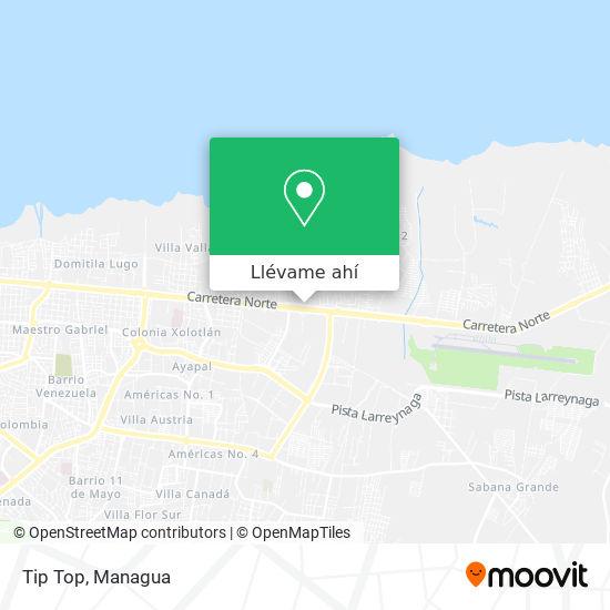 Mapa de Tip Top