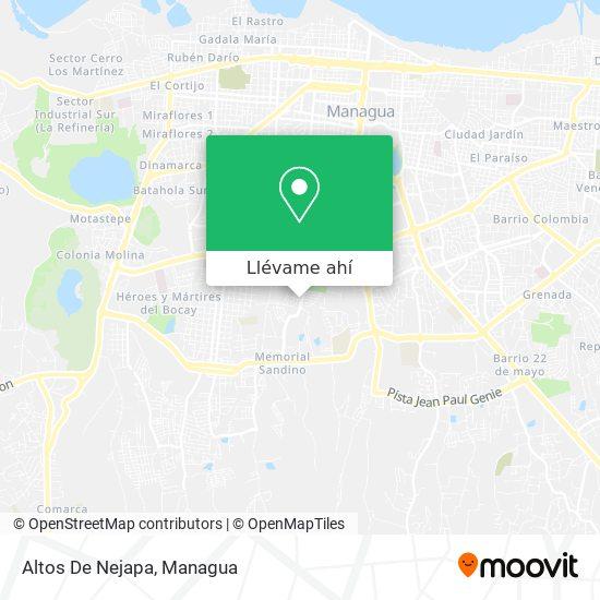 Mapa de Altos De Nejapa