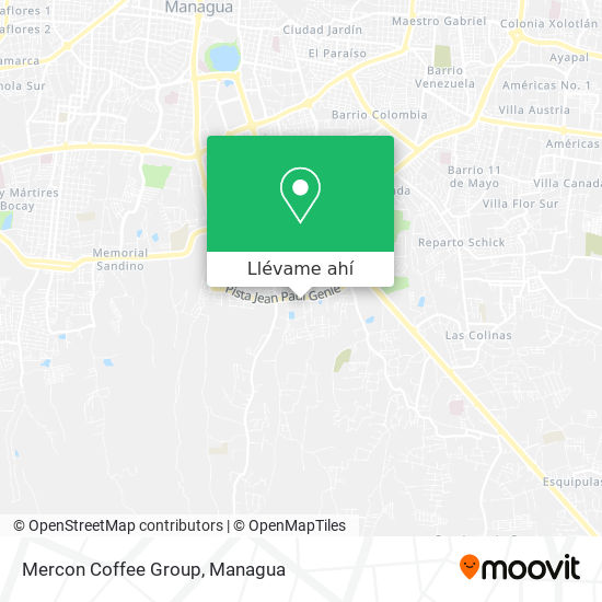 Mapa de Mercon Coffee Group