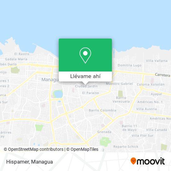 Mapa de Hispamer