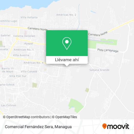 Mapa de Comercial Fernández Sera