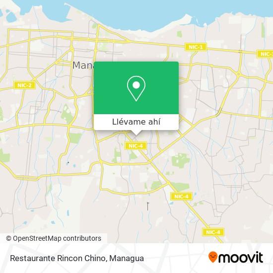 Mapa de Restaurante Rincon Chino