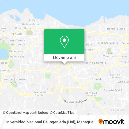 Mapa de Universidad Nacional De Ingenieria