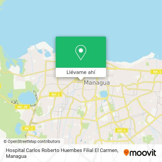 Mapa de Hospital Carlos Roberto Huembes Filial El Carmen