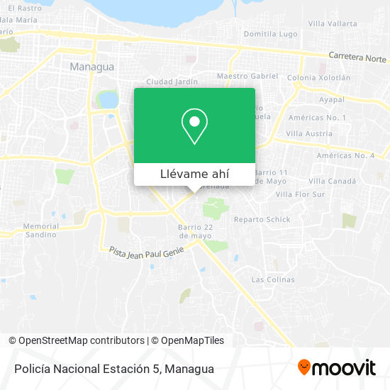 Mapa de Policia Nacional Estacion 5