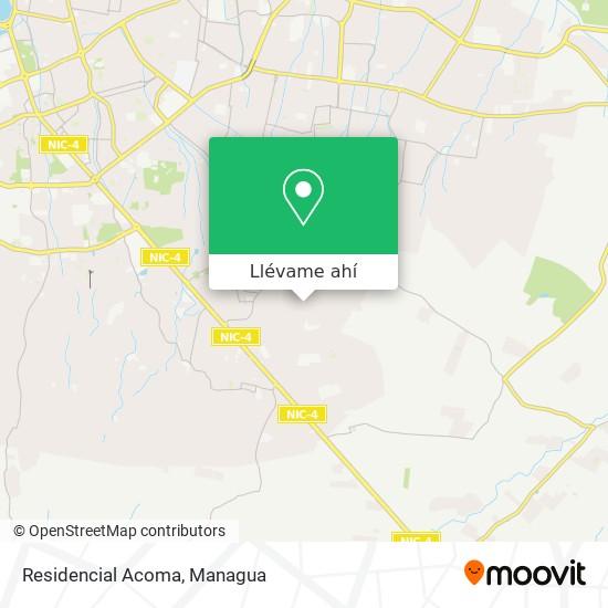 Mapa de Residencial Acoma