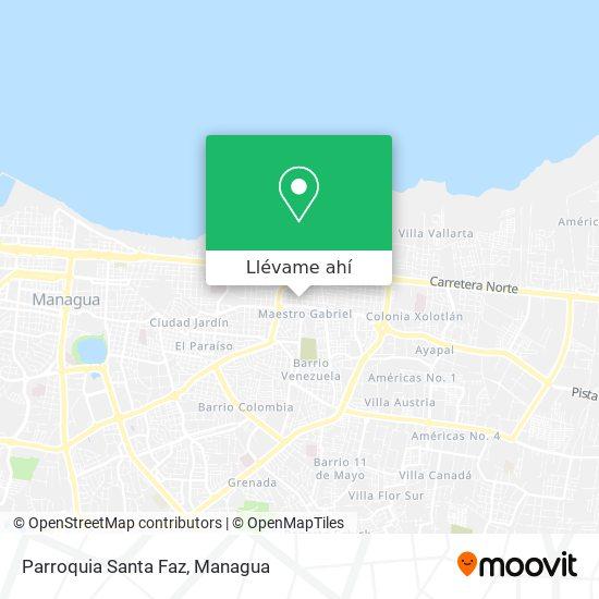 Mapa de Parroquia Santa Faz