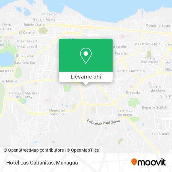 Mapa de Hotel Las Cabañitas
