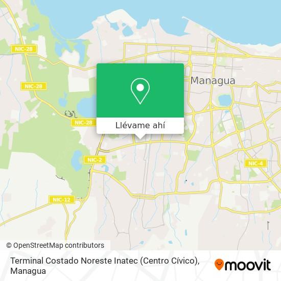 Mapa de Terminal Costado Noreste Inatec (Centro Cívico)