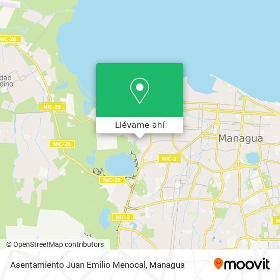 Mapa de Asentamiento Juan Emilio Menocal