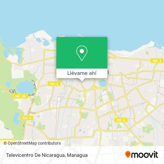 Mapa de Televicentro De Nicaragua