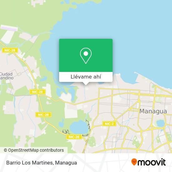 Mapa de Barrio Los Martines
