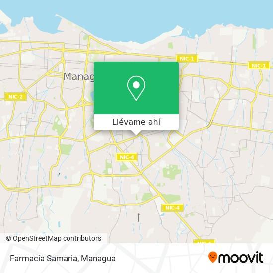 Mapa de Farmacia Samaria
