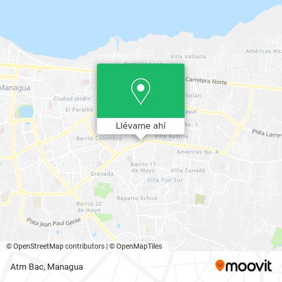 Mapa de Atm Bac