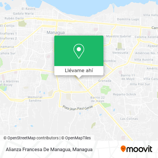 Mapa de Alianza Francesa De Managua