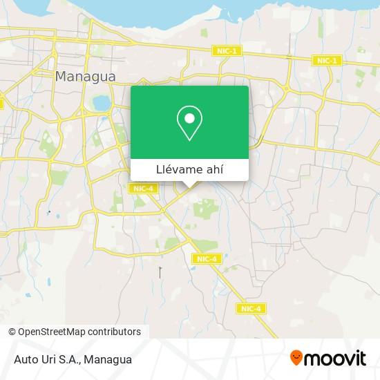 Mapa de Auto Uri S.A.