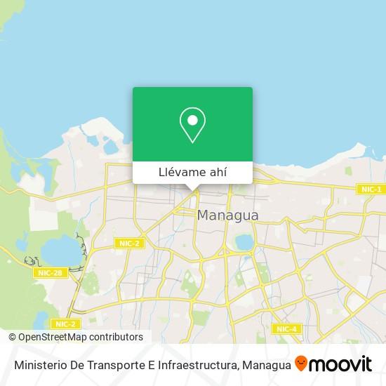 Mapa de Ministerio De Transporte E Infraestructura