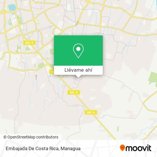 Mapa de Embajada De Costa Rica