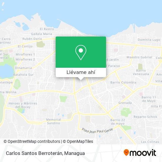 Mapa de Carlos Santos Berroteran