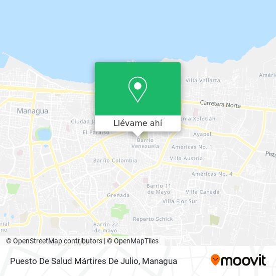 Mapa de Puesto De Salud Mártires De Julio