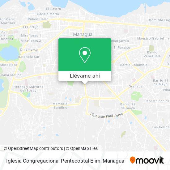 Mapa de Iglesia Congregacional Pentecostal Elim
