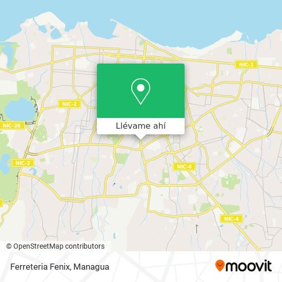 Mapa de Ferreteria Fenix