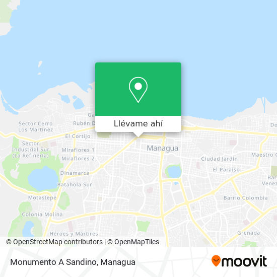 Mapa de Monumento A Sandino