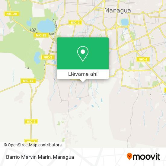 Mapa de Barrio Marvin Marín