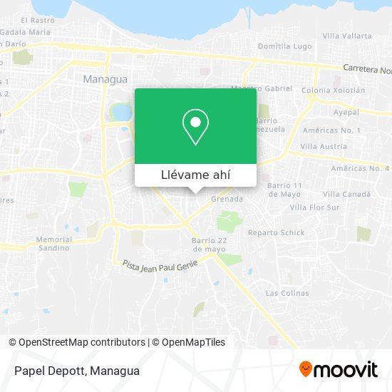 Mapa de Papel Depott