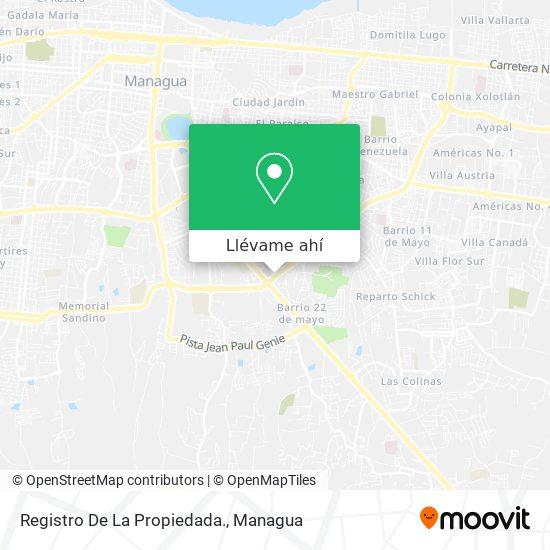 Mapa de Registro De La Propiedada.