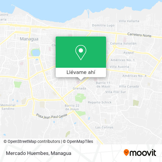 Mapa de Terminal De Buses Roberto Huembes