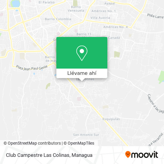 Mapa de Club Campestre Las Colinas