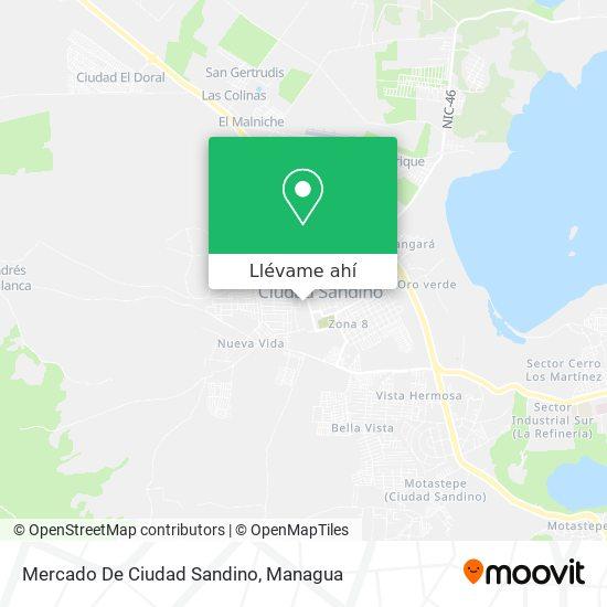 Mapa de Mercado De Ciudad Sandino