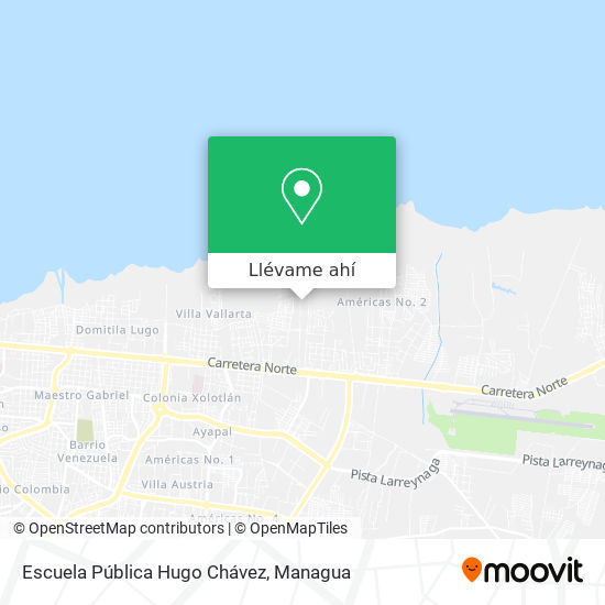 Mapa de El Centro Escolar Hugo Chavez