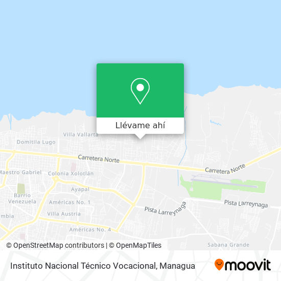 Mapa de Instituto Nacional Técnico Vocacional
