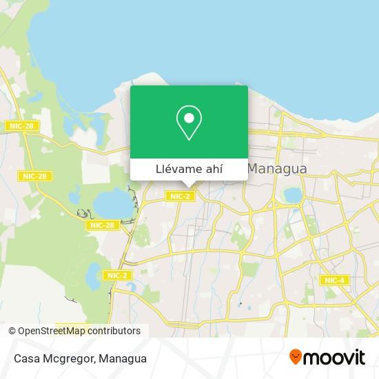 Mapa de Casa Mcgregor